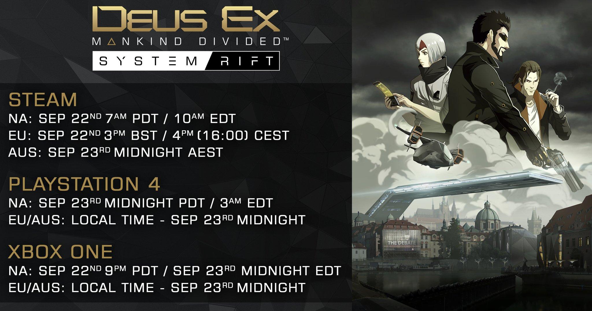 Uhrzeit zum System Rift DLC bekannt