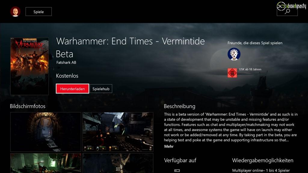 Kostenlose Xbox One Beta im Store aufgetaucht