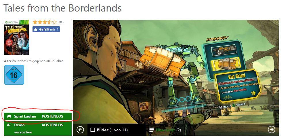 Xbox 360 Version kostenlos im Store